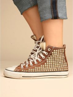 Studded Vintage Converse High Top
