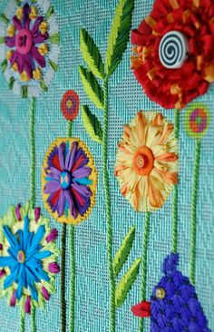It's not your Grandmother's Needlepoint: The flowers are a'blooming!