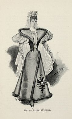Russian Costume from 'Fancy Dresses Described; or, What to Wear at Fancy Balls,' by Hold, Ardern, 1896