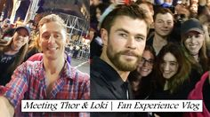 Meeting Chris Hemsworth & Tom Hiddleston   Fan Experience VLOG
