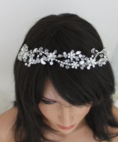 Bridal hair vine headpiece Wedding headpiece by TheExquisiteBride