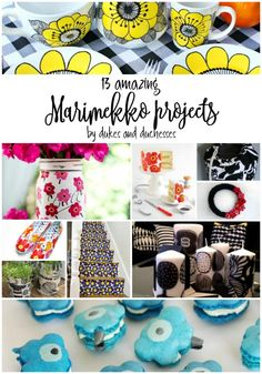 13 Amazing DIY Marimekko Projects - Dukes and Duchesses Diy Craft Projects, Craft Tutorials, Decor Crafts, Easy Crafts, Diy And Crafts, Diy Crafts For Adults, Crafts To Sell, Adult Crafts, Paper Flower Tutorial