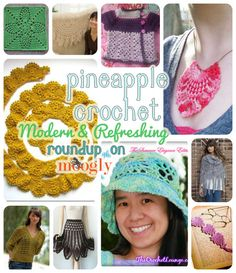 10 Free Pineapple Crochet Patterns - another great roundup on Moogly! (Pineapple is one of my favorites! Crochet Bookmark Pattern, Crochet Bookmarks, Crochet Books, Crochet Stitches Patterns, Crochet Motif, Diy Crochet, Crochet Crafts, Crochet Projects, Blanket Patterns