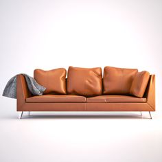 Realistic Ikea Stockholm Sofa Design 3D Model   3D Model
