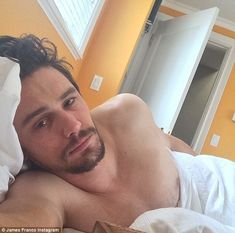 James Franco selfies in bed. I think these are delightful Why the fuck is anyone complaining?
