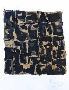 31 Petits mots de Nuit - Gabriel Lalonde (encre sur sac de papier kraft marouflé sur bristol 43x36cm)  2014