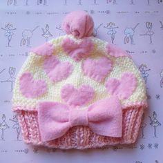 DREAM CUPCAKE Baby beanie, baby hat, cupcake hat, hearts hat, pink hat, girls hat, kids hat, childrens clothing via Etsy