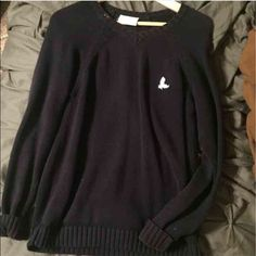 Navy Sweater Navy Sweater. Perfect if you pair it with a blouse. Sweaters V-Necks