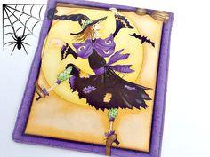 Halloween Decorative Mini Quilt - Mug Candle Mat - Halloween Handmade Mini Wall…