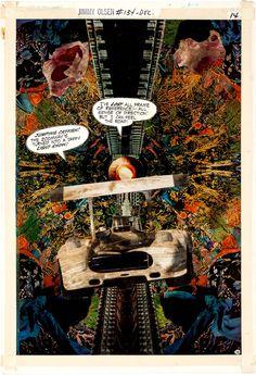 Original Jack Kirby photomontage, used in Jimmy Olsen #134.