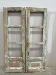 Antique Pair Mexican Pine Old x Patina- by RanchoAdobe on Etsy Antique Doors, Old Doors, Barn Doors, Rustic French Country, Country Primitive, Old Windows, Windows And Doors, Western Decor, Country Decor