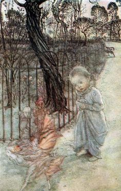 art-and-dream:    Arthur Rackham's (1867-1939) haunting and dreamlike style has added to the enchantment and fantasy of the children's literature and his imitators are many   Art painting illustration wonderful