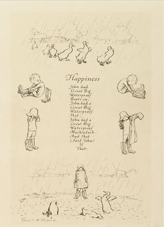 Six Drawings by E. Shepard Illustrating Poems from When We Were Very Young. A Milne - Bromer Booksellers - Rare and Beautiful Books Aa Milne Poems, Eh Shepard, House At Pooh Corner, Winnie The Pooh Quotes, Children's Book Illustration, Book Illustrations, Pooh Bear, Disney Drawings, Nursery Rhymes
