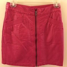 Leather Mini Skirt H&M Pink Mini Leather skirt, close zipper with deep pockets. Cute and casual. H&M Skirts Mini
