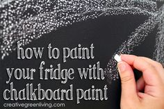 Who knew you could paint your fridge with chalkboard paint? Cool results and a giveaway for a chalkboard paint kit, too.