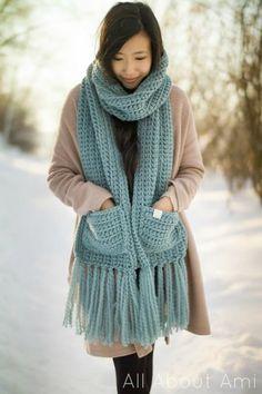 Ravelry: The Willow Scarf pattern by Stephanie Jessica Lau Crochet Baby, Free Crochet, Knit Crochet, Crotchet, Crochet Scarves, Crochet Clothes, Modern Crochet Blanket, Single Crochet Stitch, Crochet Patterns
