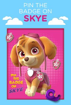 When Skye's not flying high, she's ready to play! Kids will have a blast trying to pin the badge on Skye in this new take on the classic party game at their PAW Patrol birthday party.