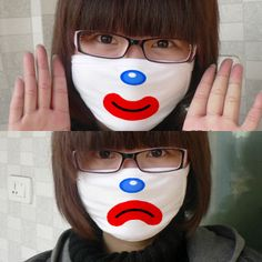 Clown Cotton Mouth Face Mask,Expression of DIY personality mask cotton layer three Korean fashion warm necessary wholesale clown lovers masks - 商品详情 - 亚特代购