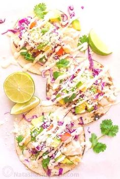 Fish Tacos Recipe with Best Fish Taco Sauce! (Natasha's Kitchen) - Fish Tacos Recipe with Best Fish Taco Sauce! (Natasha's Kitchen) Fish Tacos Recipe with Best Fish Taco Sauce! Slaw For Fish Tacos, Fish Tacos With Cabbage, Cod Fish Tacos, Tilapia Tacos, Easy Fish Tacos, Grilled Fish Tacos, Mahi Mahi Fish Tacos, Paleo Fish Tacos, Mexican Fish Tacos
