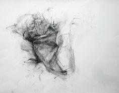 Ginny GRAYSON Nap, 2010  Charcoal on paper  56.5 x 64 cm