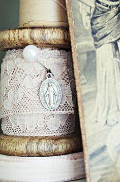 Vintage Lace -Miraculous Medal