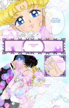 The last Sailor Moon manga! So sweet! Swoon