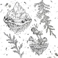 Mountains and islands! How's this gonna work? At noon (starting TOMORROW) I will open each day's schedule in person. First come first served to get a time slot and reserve a design for the day. Each design will be tattooed only once during this weekend. $100 each, or $150 to claim it as non-repeatable (never available in future flash events) Lots more designs coming all week long! Is there something you're hoping to see?