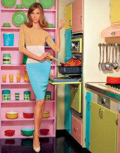 look how the cabinet doors are all different colors ! LOVE!