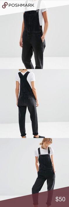 Asos Black Denim Overalls Never worn | Comfy | Black Asos Jeans Overalls
