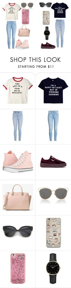 """""""S + M"""" by caitlinkansil on Polyvore featuring Hollister Co., H&M, Converse, Puma, MICHAEL Michael Kors, Christian Dior, ban.do and ROSEFIELD"""