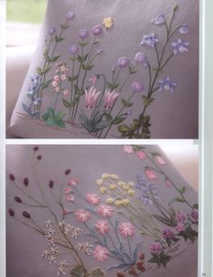 Wonderful Ribbon Embroidery Flowers by Hand Ideas. Enchanting Ribbon Embroidery Flowers by Hand Ideas. Learn Embroidery, Embroidery Needles, Crewel Embroidery, Silk Ribbon Embroidery, Cross Stitch Embroidery, Machine Embroidery, Embroidery Designs, Hand Embroidery Tutorial, Japanese Embroidery