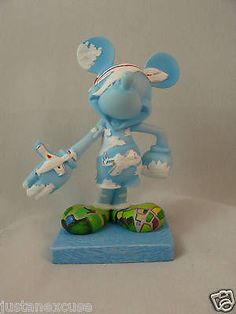 "Disney Inspearations 75th 6"" Resin Figurine Jet Setter Mickey #17847 Retired"