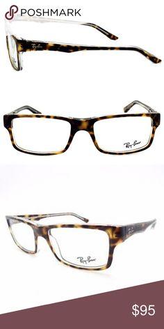 ca755f72a4c4f Ray Ban Unisex Tortoise Eyeglass Frames RB 5245 Classic styled Ray Ban  rectangular eyeglass frames in
