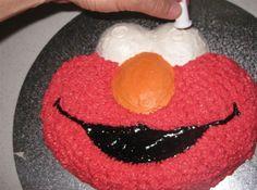 elmo cake how-to