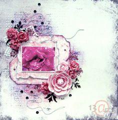 A pink layout by Marta Debicka