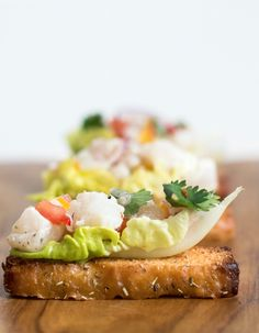 Fusion Fingerfood Crostini with cod