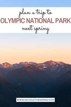 Click HERE to get your guide for planning a trip to Olympic National Park in Washington! It includes where to stay, what to pack, where to hike, and what to see in Olympic National Park. Olympic photography | Olympic hikes | Olympic camping | Olympic itinerary | hurricane ridge | hall of mosses | hoh rainforest | washington road trip | olympic national park hot springs | olympic national park waterfall | olympic peninsula American National Parks, Most Visited National Parks, Us National Parks, Usa Road Map, Rialto Beach, Hurricane Ridge, Storm King, Port Angeles, Places In America