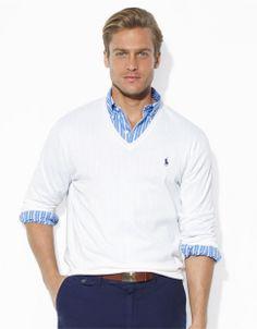 Brands   Pullovers   Pima Cotton V-Neck Sweater   Hudson's Bay
