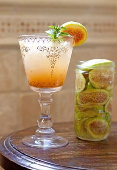 tequila infused fig margarita + fruit infused tequilas