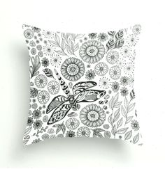 Dragonfly garden Throw Pillow by katerinamitkova - Best Pillow deas Couch Pillows, Down Pillows, Pillow Drawing, Drawing Art, Best Pillow, Designer Throw Pillows, Pillow Design, Pillow Inserts, Tapestry