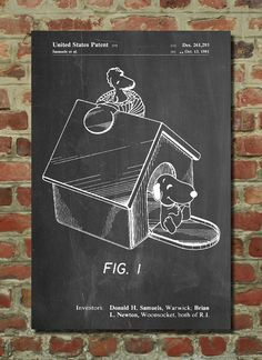 Snoopy Poster, Snoopy Patent, Snoopy Print, Snoopy Art, Snoopy Decor, Snoopy Wall Art, Snoopy Blueprint