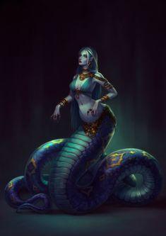 Mythical Creatures Art, Mythological Creatures, Magical Creatures, Dark Fantasy Art, Fantasy Girl, Fantasy Artwork, Female Monster, Fantasy Monster, Monster Girl
