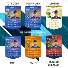 FIFA 16 Card Design Predictions! These aren't my final designs and there is a few things I can work on to fix, but what do you guys think about them? Do you think they actually have a chance at being in FUT 16?! If you do, please tag @easportsfifa so we can be noticed