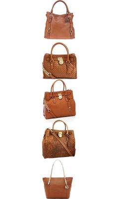 """Michael Kors Tan Purses"" by honeybee20 ❤ liked on Polyvore"