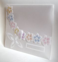 Invitation Fantasy Flowers and Butterfly by WangoArt on Etsy, $4.50