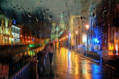 Petersburg becomes the backdrop of a stunning photography series in which cityscape photos appear like old oil painting as flowing Photography Series, Stunning Photography, Street Photography, Rain Street, Rainy City, St Petersburg Russia, Walking In The Rain, City Architecture, Jolie Photo