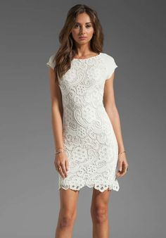 REBECCA TAYLOR All Lace Dress in Cream Wedding Rehearsal Dinner dress? I would need to drop a few lbs for this one! Wedding Rehearsal Dress, Rehearsal Dinner Dresses, Wedding Dresses, Rehearsal Dinners, Wedding Bridesmaids, Dress Skirt, Lace Dress, Dress Up, White Dress