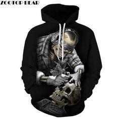 fb293274758105 New 2018 Funny Skull Hoodies 3D Hoodies Men Women Sweatshirts Unisex  Tracksuits Fashion Casual Streetwear Hooded Brand Pullover