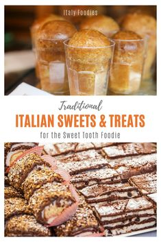 Italians love their dessert but in Italy, a little sweet treat goes a long way. This list of traditional italian desserts from north to south are some of the best desserts in Italy, perfect for the sweet tooth Italy foodie! Small Desserts, Fun Desserts, Dessert Recipes, Italian Christmas Desserts, Italian Pastries, Exotic Food, Italian Recipes, Italian Dishes, International Recipes
