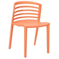 Outdoor chair - $129 - Contour Orange Modern Dining Chair